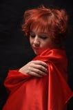 Flicka i Red Royaltyfri Foto