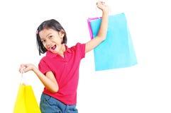 Flicka i shopping Royaltyfri Bild