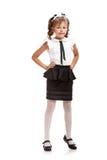 flicka i skolalikformig royaltyfria bilder
