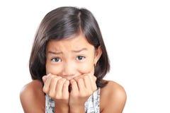 Flicka i skräck arkivfoto