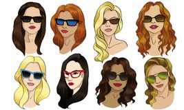 Flicka i solglasögon Royaltyfria Bilder