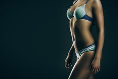 Flicka i swimwear Arkivbild