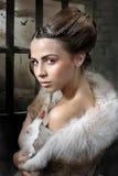 Flicka i vargs kläder royaltyfria foton