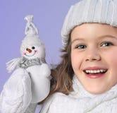 Flicka i vinterkläder Royaltyfri Bild