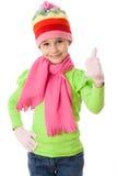 Flicka i vinterkläder Arkivfoto