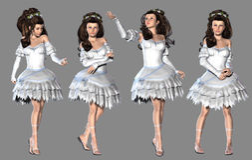 Flicka i vitklänning Royaltyfri Foto