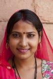 flicka india rajasthan Arkivbilder