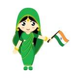 Flicka Indien Royaltyfri Fotografi