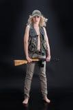 flicka isolerad militär white royaltyfria foton