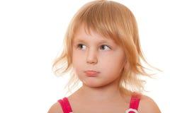 flicka kränkt little Fotografering för Bildbyråer
