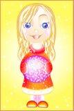 flicka little Vektor Illustrationer