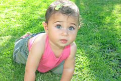 flicka little arkivbild
