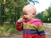 flicka little champinjon Royaltyfri Fotografi