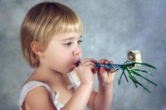 flicka little deltagare Arkivbilder