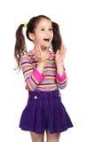 flicka little förvånat le royaltyfri bild
