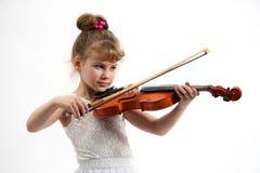 flicka little fiol Arkivbilder