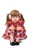 flicka little fridfullt bekymrat arkivfoton