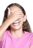 flicka little le för stående Royaltyfri Bild