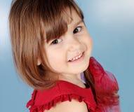 flicka little le för stående Arkivbild