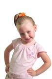 flicka little le för stående Royaltyfri Fotografi