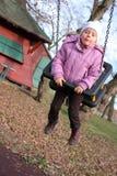 flicka little mitt- swing Royaltyfria Foton