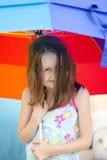 flicka little paraply Royaltyfri Bild