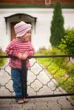 flicka little park Fotografering för Bildbyråer