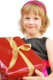 flicka little present Royaltyfri Bild