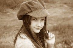 flicka little romantiker Fotografering för Bildbyråer