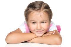 flicka little skola Royaltyfria Bilder