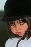 flicka little som är lynnig Royaltyfria Bilder