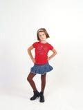 flicka little som är moderiktig Royaltyfria Bilder