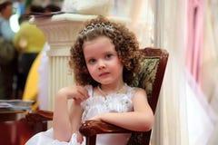 flicka little som är nätt Royaltyfri Bild
