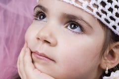 flicka little som är nätt Arkivbilder