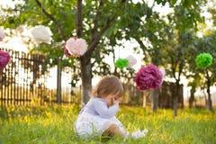 flicka little som är SAD Royaltyfria Bilder