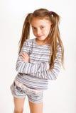 flicka little som är sportig Royaltyfri Fotografi