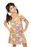 flicka little som är trevlig Royaltyfria Foton