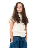 flicka little som är vit royaltyfria bilder