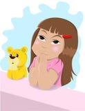 flicka little som ber Royaltyfri Foto