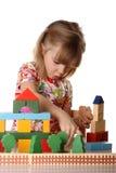 flicka little som leker Arkivbild