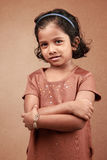 flicka little som ler Fotografering för Bildbyråer