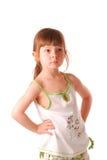 flicka little som poserar Royaltyfri Foto