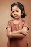 flicka little som poserar Arkivbilder