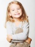 flicka little som är älskvärd Arkivfoton