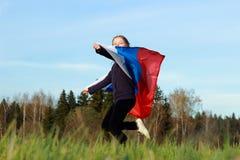 flicka little som är patriotisk Royaltyfri Bild