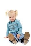 flicka little som är skämtsam Royaltyfri Bild