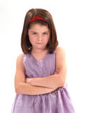 flicka little som är tokig Royaltyfria Bilder
