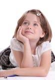 flicka little som ser upp Royaltyfria Bilder