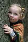 flicka little sorgsenhet Arkivfoto