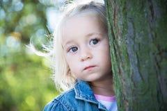 flicka little stående Royaltyfri Fotografi